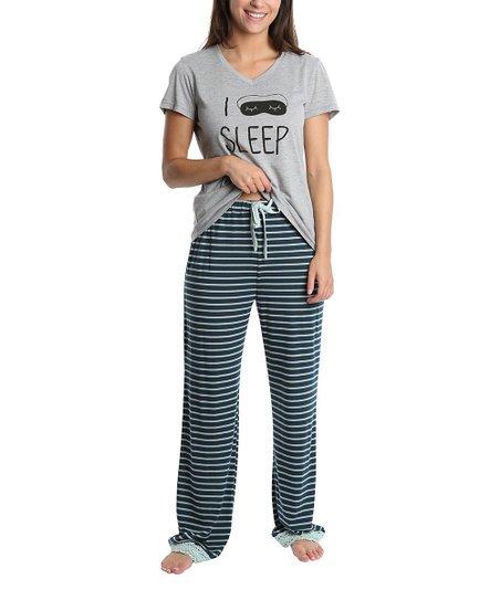 1d107fe29c0ff love this product Gray  I Sleep  Pajama Set - Juniors