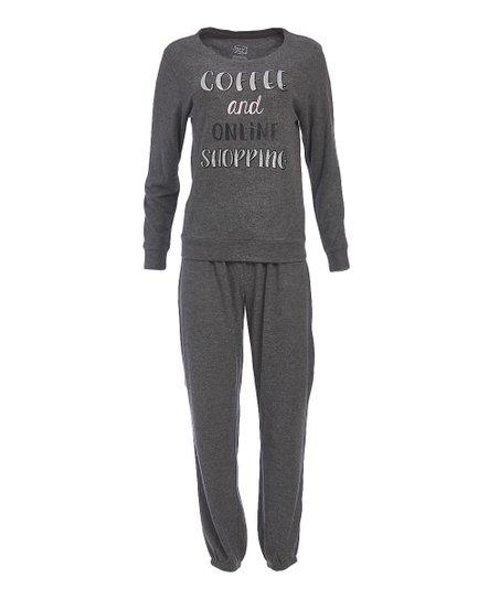6edb388463ff love this product Gray  Coffee   Online Shopping  Pajama Set - Women