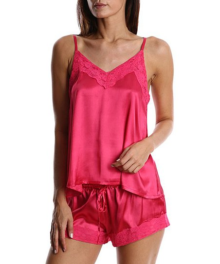 love this product Pink Satin Boxer Shorts Set - Women 43e2afb246