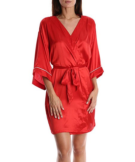 6704e4fdc1 love this product Red Satin Short Robe - Women