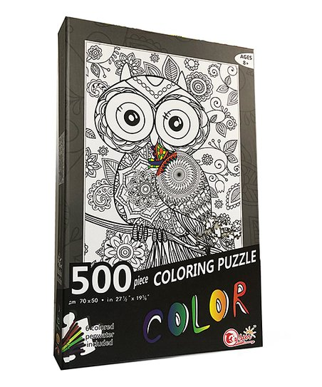 Toyzon Owl Coloring Puzzle - Set of 506 | Zulily