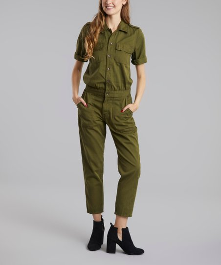 d8e576f4619 love this product Military Green Utility Jumpsuit - Women