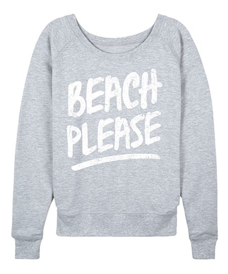 d0687881f7 Instant Message Womens Athletic Heather Beach Please Slouchy ...