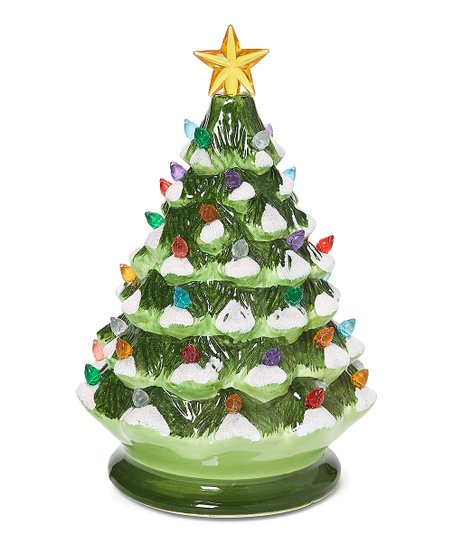 Green Light-Up Musical Dolomite Christmas Tree Décor