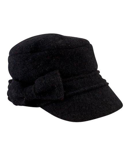 San Diego Hat Company Black Bow Wool-Blend Cadet Cap  774035d38b3