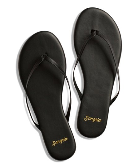 ae3542143371c love this product True Black Leather Flip-Flop - Women