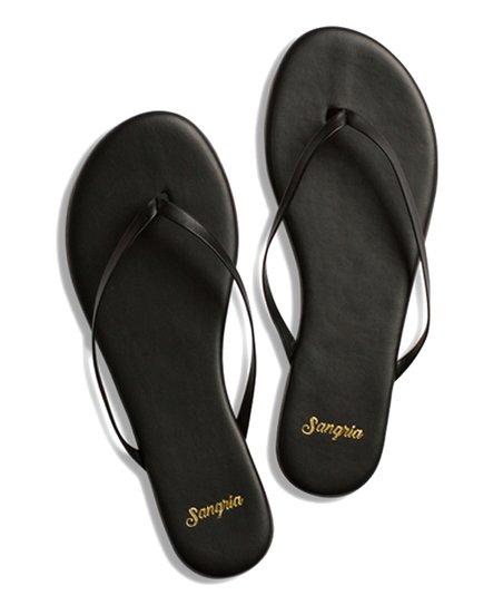 6a8566ce7cae4 Sangria Sandals True Black Leather Flip-Flop - Women