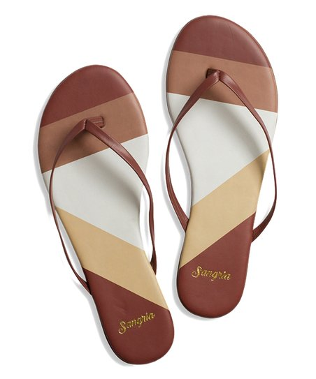 ae890a03d20a love this product Burgundy Rosé Leather Flip-Flop - Women