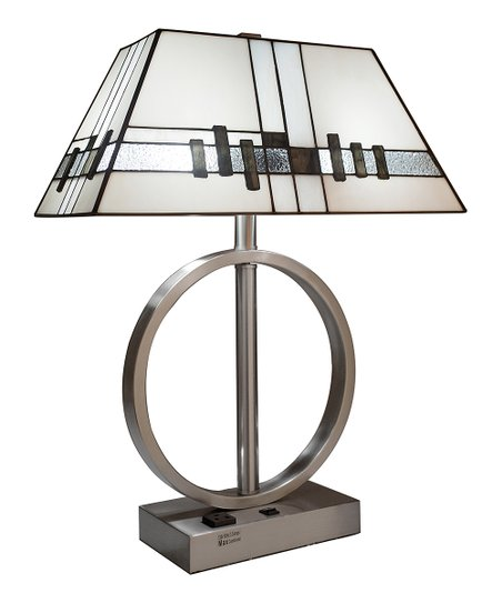 River Of Goods White Usb Stained Glass Table Lamp Zulily