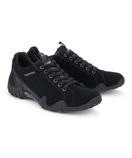 3f01ed9456 Allrounder by Mephisto Black-on-Black Funny Trend Suede Walking Shoe ...