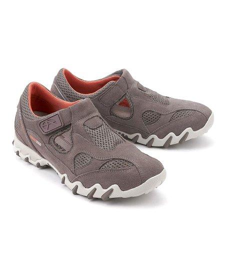 9e046b4115ba18 Allrounder by Mephisto Gray Nana Suede Walking Shoe - Women | Zulily