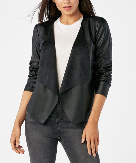 0cea263da1 JustFab Black New Easy Jacket - Women | Zulily