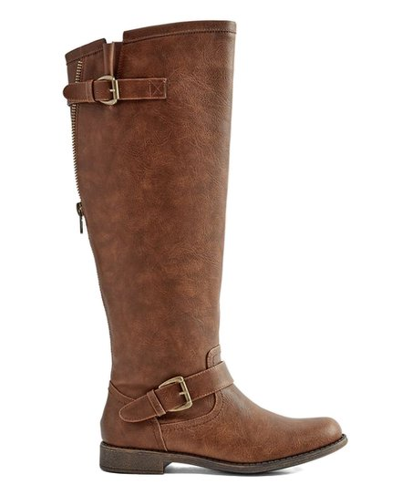 31050fe3015 JustFab Brown Bayley Wide-Calf Boot - Women