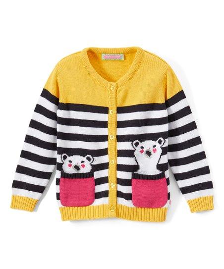 df2929ae9 Sophie   Sam Yellow   Navy Bear in My Pocket Cardigan - Infant ...
