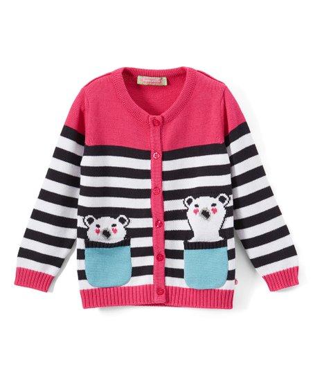 a3565ccae Sophie   Sam Pink   Navy Bear in My Pocket Cardigan - Infant ...