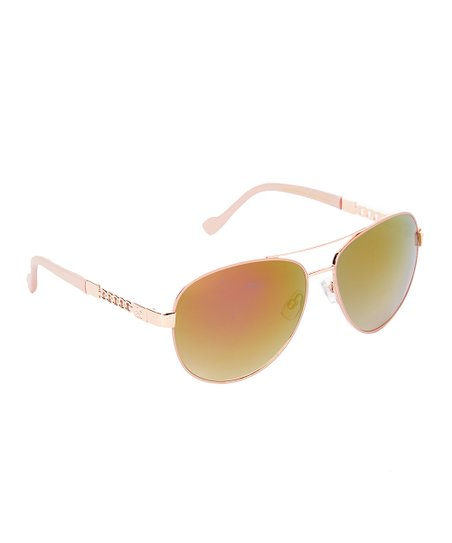 454965b4979c9 Jessica Simpson Collection Rose Gold   Rose Aviator Sunglasses