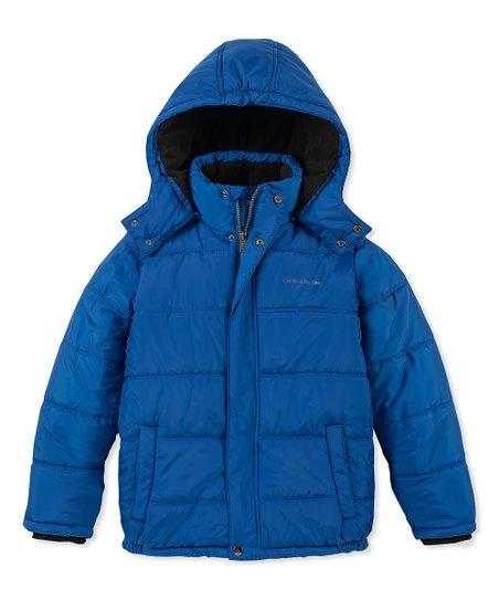 324bf4a1685a Calvin Klein Jeans Bright Blue Eclipse Puffer Jacket - Boys
