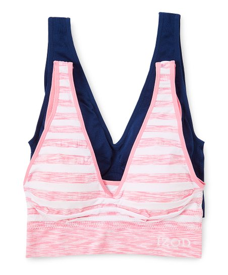1279d74033 love this product Pink   White Stripe Cotton Bralette - Women