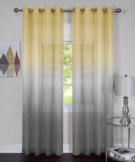 Goodgram Yellow Gray Ombré Curtain