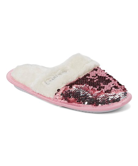 bebe girls Light Pink Sequin Faux Fur