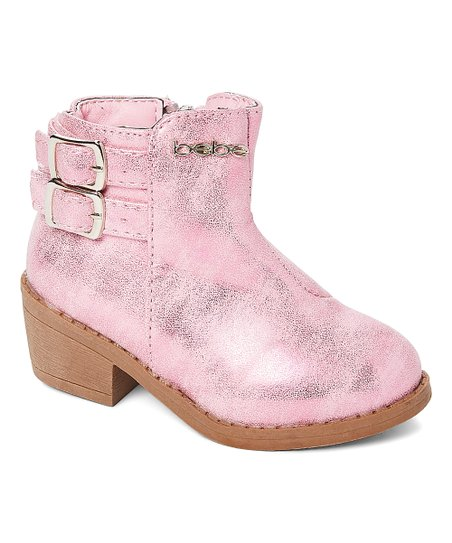 girls pink ankle boots