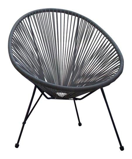 Sensational Hospitality Rattan Gray Rattan Saucer Chair Pabps2019 Chair Design Images Pabps2019Com