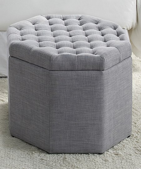 Remarkable Inspired Home Light Gray Gabriella Tufted Linen Octagon Machost Co Dining Chair Design Ideas Machostcouk