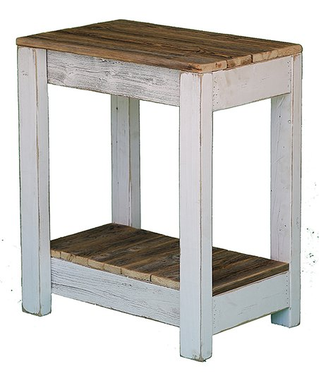 Doug Cristy Designs White Two Level Rustic End Table Zulily