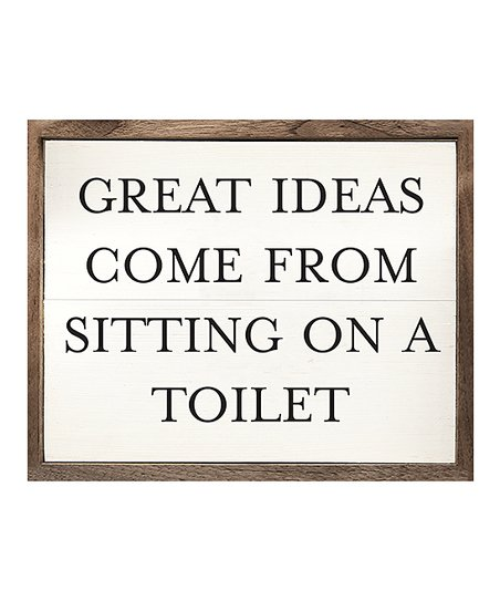 Kendrick Home Sitting On A Toilet Wall Sign Best Price And Reviews Zulily