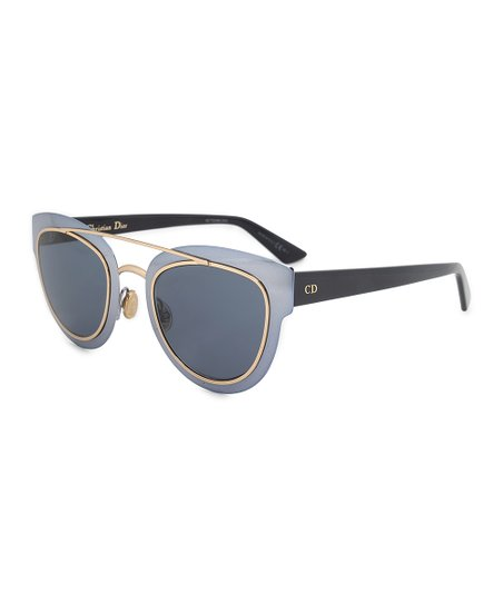 fb586daec20 Dior blue chromic metal cat eye sunglasses zulily jpg 452x543 Dior cat eye  sunglasses