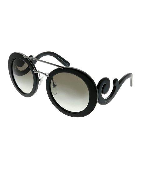 adae9496f52 Prada Black Scroll-Side Oversize Sunglasses