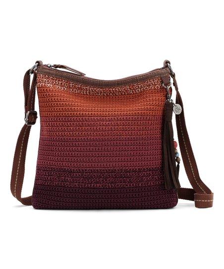The Sak Cabernet Ombré Lucia Crochet Crossbody Bag  d7c937a103658
