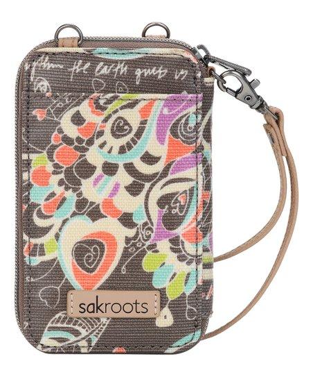 outlet store 45a98 41c7d Sakroots Slate Songbird Artist Circle Smartphone Crossbody Wristlet