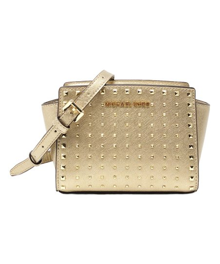 bac4129fcce4 love this product Pale Gold Stud Selma Mini Leather Crossbody Bag