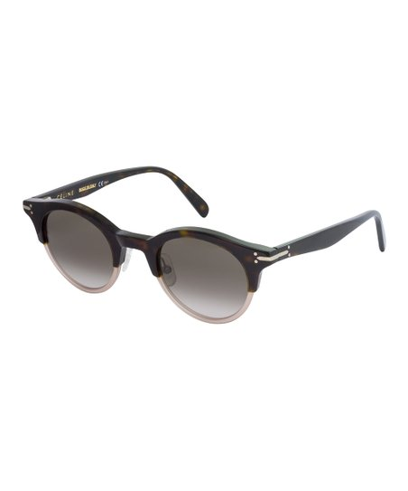 a9db6f73a88 Celine Dark Havana Brown Browline Sunglasses