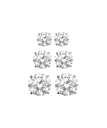 4ed0052b9 Regal Jewelry Cubic Zirconia & 10k White Gold Graduated Stud Earring ...