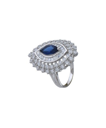 58ef14c22 love this product Blue & Sterling Silver Marquise Ring With Swarovski®  Crystals