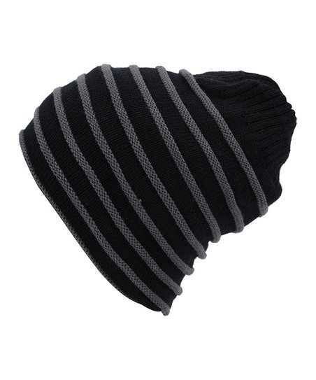 e433f6f33c4 Simplicity Dark Gray Cable-Knit Slouchy Beanie