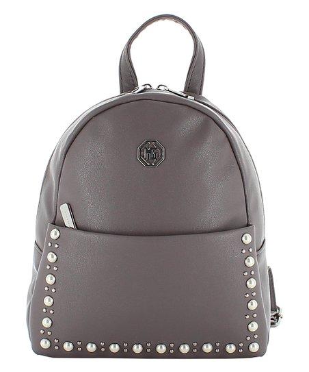 Marina Galanti Gray Faux Pearl Backpack   Zulily