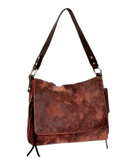 d86323bc4e Nino Bossi Handbags Chocolate Elen Leather Shoulder Bag