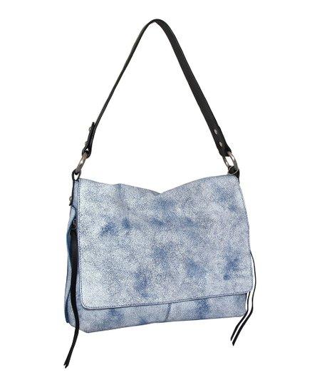 5f2fca8b87 Nino Bossi Handbags Off-White   Blue Elen Leather Shoulder Bag
