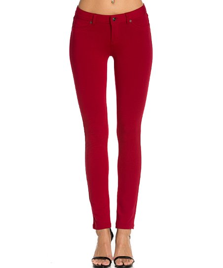1ab25cc5af98d love this product Red Rhinestone-Pocket Jeggings - Women