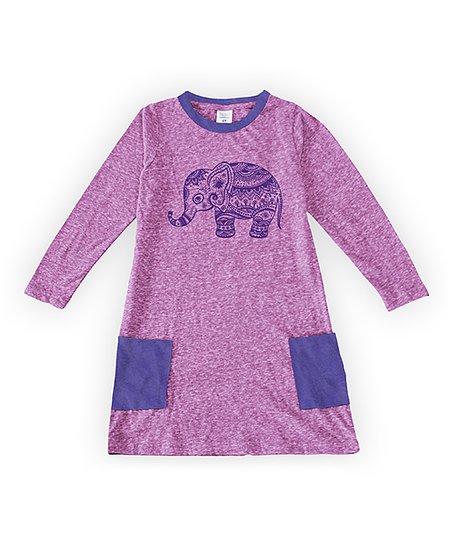 a3fb32417384 love this product Mauve   Purple Elephant Pocket Katie Dress - Toddler    Girls