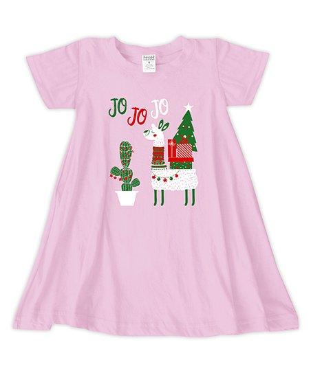 95aa2b5c8e92 Light Pink Jo Jo Jo Llama T-Shirt Dress - Toddler   Girls