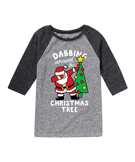 86d877ba love this product Ath Hea/hea Black 'Dabbing Around the Tree' Raglan Tee -  Toddler & Kids