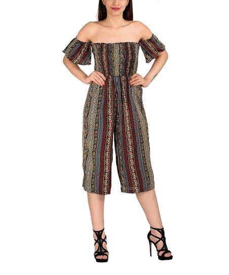 21ca40fa2488 I am sunshine Brown   Blue Floral Off-Shoulder Dress