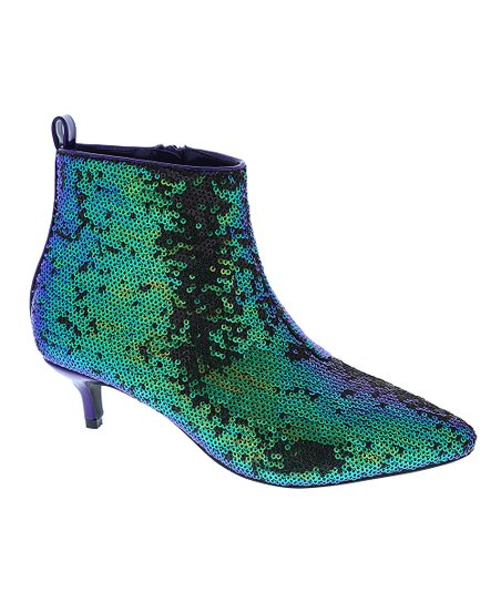 love this product Royal Blue Sequin Harmoni Ankle Boot - Women a81a4a967b