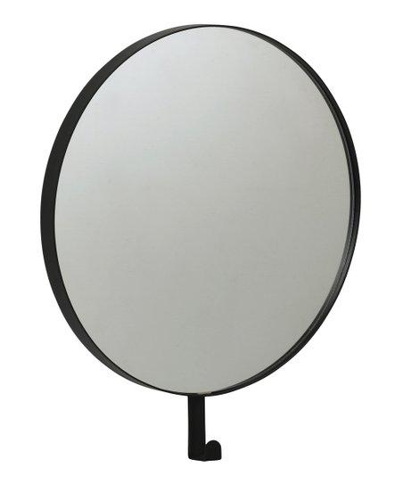 Pilaster Designs Black Metal Wall Mirror with Hook  1ff8ec5ca6