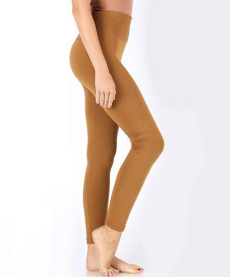17c28fbf5ea921 love this product Coffee Tummy Control Fleece-Lined Leggings - Women