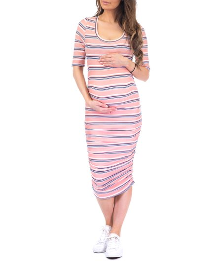 Ruched Maternity Dress